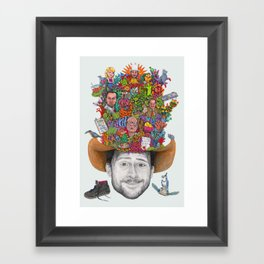 THE KING OF THE RATS Framed Art Print
