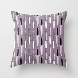 Double Knives in Mauve Throw Pillow