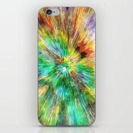 Watercolor Starburst Tie Dye iPhone Skin