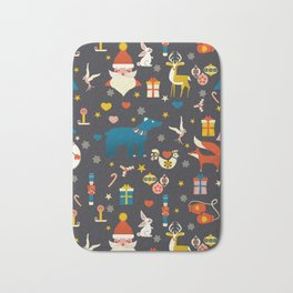 Christmas symbols pattern Bath Mat