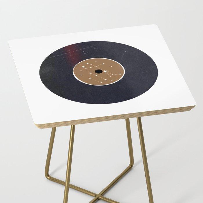 Vinyl Record Star Sign Art | Gemini Side Table