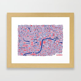 London City Map Poster Framed Art Print