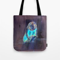 child Tote Bags featuring child by Marilina Marchica