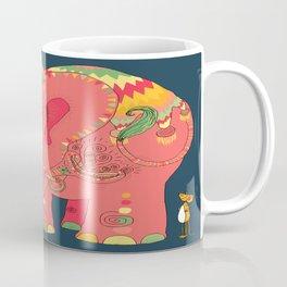 colorful Indian elephant and mouse Coffee Mug