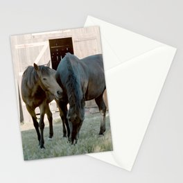 In For The Long Haul (Horses in Northern California) Stationery Cards