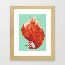 Kitsune (Fox of fire) Framed Art Print