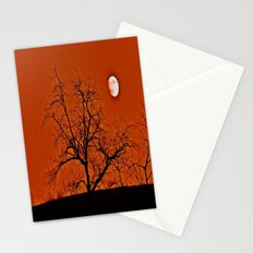 Red Sky Moon Stationery Cards