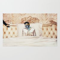 infamous Area & Throw Rugs featuring Arsenic and Old Lace by Alec Goss
