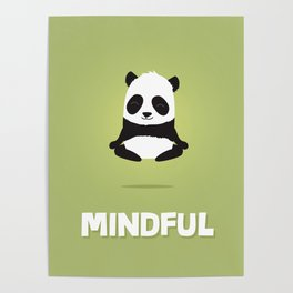 Mindful panda levitating Poster