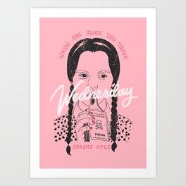 Wednesday Addams Eyes Art Print