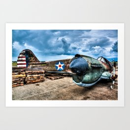 WWII Relic Mustang Art Print
