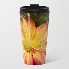 Fiery Flower Metal Travel Mug