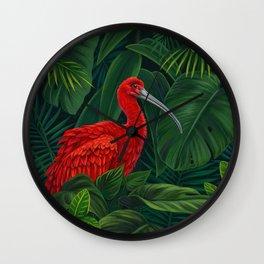 Scarlet Ibis Wall Clock