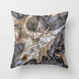 Petrified wood 3264 Throw Pillow