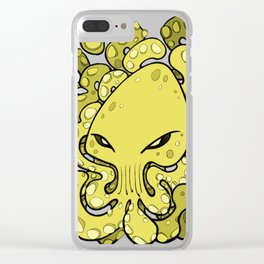 Octopus Squid Kraken Cthulhu Sea Creature - Meadow Lark Yellow Clear iPhone Case
