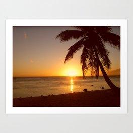 Cook Islands sunset Art Print