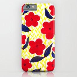 Red Summer Petals iPhone Case