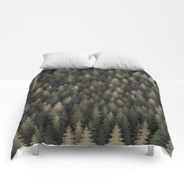 Forest camouflage Comforters