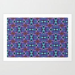 Frog Pixelation Art Print
