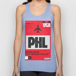 PHL RED airport code Unisex Tank Top