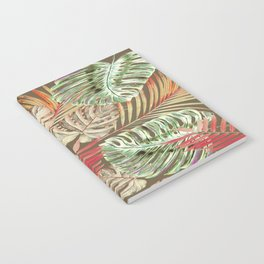 Jungle Tangle Red On Brown Notebook