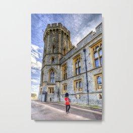 Windsor Castle Coldstream Guard Metal Print