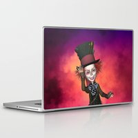 mad hatter Laptop & iPad Skins featuring Mad Hatter by apgme
