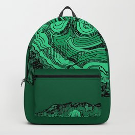 Agate Crystal Gemstone in Emerald Forest Green Malachite Backpack