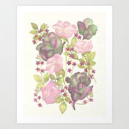 Autumn Bouquet - Kale & Rose Art Print