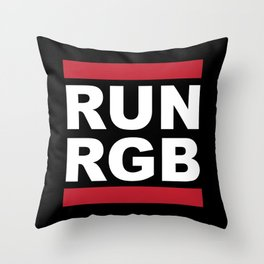 Run RGB Throw Pillow
