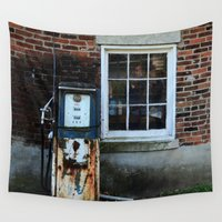 pocket fuel Wall Tapestries featuring Fuel by 100 Watt Photography