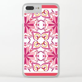 Lyrical Love Mandala Tiled - Pink Gold Clear iPhone Case