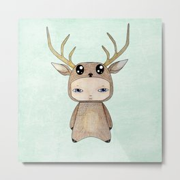 A Boy - Red Deer Metal Print