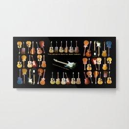 Guitars Galore Metal Print