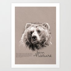 Bear (BornInNature) Art Print