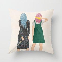 Amie & Callie Throw Pillow
