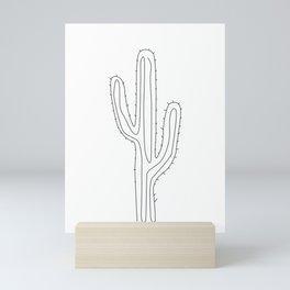 Saguaro Cactus , Botanical wall art, Abstract Modern wall decor, Single line drawing, line art, Mini Art Print