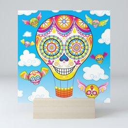 Sugar Skull Hot Air Balloon Mini Art Print