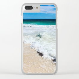 Tulum Waves Clear iPhone Case