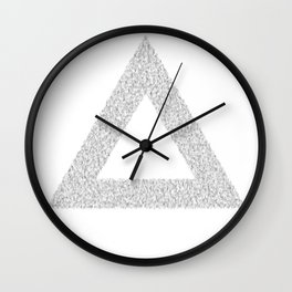 Hairy Triangle Wall Clock