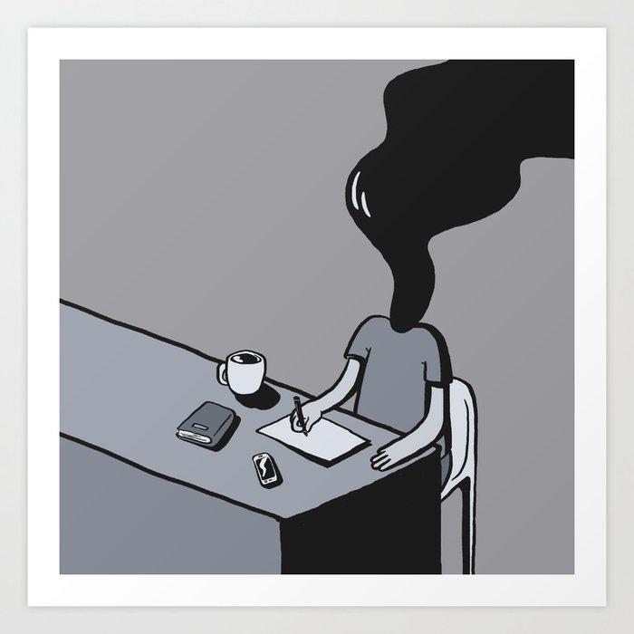 Creative Blockism Art Print