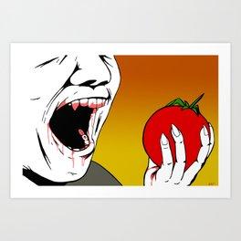 Vampires Are Vegans Too Art Print