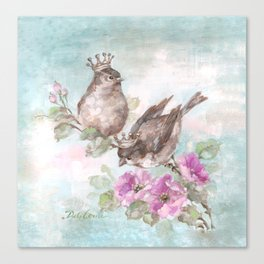 French Crown Songbirds I Canvas Print