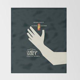 Quién sabe? Movie poster with Klaus Kinski, Gian Maria Volonté, Lou Castel - by Damiano Damiani Throw Blanket