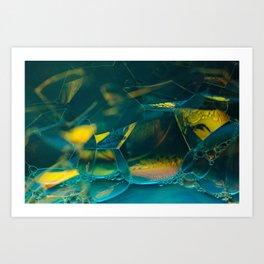 Aqua Bubbles Art Print
