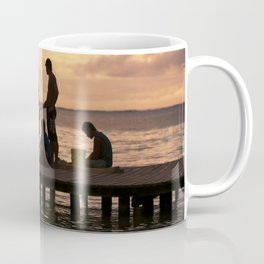 Moorea: Fishing At Sunset in the South Pacific Coffee Mug