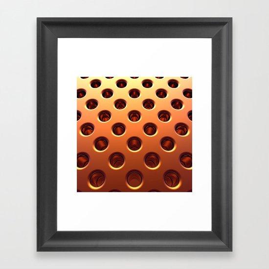 Shiny Holes Framed Art Print