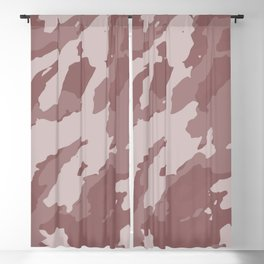 Colorful Marble Abstract Style Beige Brown Blackout Curtain