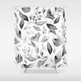 Watercolor fallen leaves 23 Shower Curtain