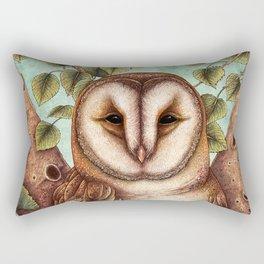 Spring Barn Owl Rectangular Pillow